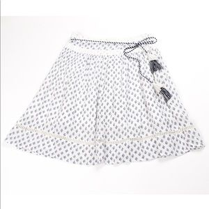 French Connection white eyelet belted boho skirt